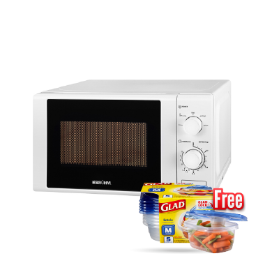 BRUHM MICROWAVE OVEN BMM-20MG - SOLO + MICROWAVE BOWLS SET FREE