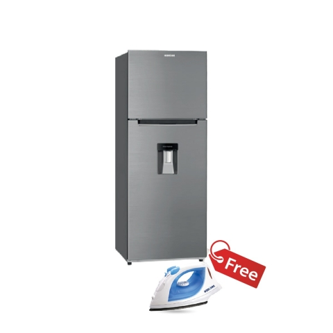 BRUHM 311 LTS REFRIGERATOR  WITH DISPENSER -BFD-311TMD - (INOX)  + BRUHM STEAM IRON BIS-2200NU