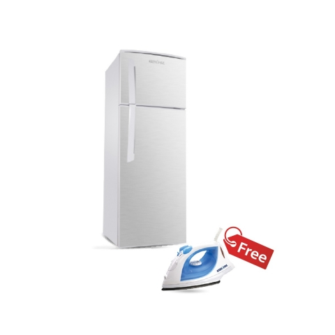 BRUHM 245L TOP FREEZER REFRIGERATOR BFD-245MD + BRUHM STEAM IRON BIS-2200NU