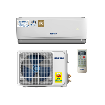 BRUHM 2.5HP SPLIT AIR CONDITION BAS-24CCFW - VITAMIN C