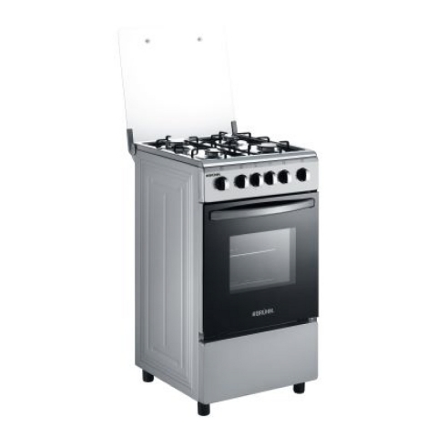 BRUHM  4 GAS COOKER WITH DOUBLE OVEN GRILL 50cm x 50cm BGC-5540IS