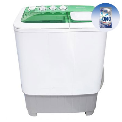 PANASONIC 6Kg Washing Machine NA-W60L1WRU - 6Kg + FREE 1KG OMO Auto