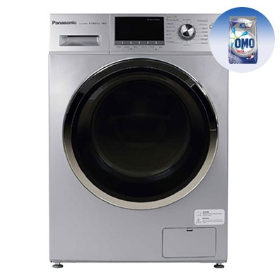 PANASONIC 8KG Washing Machine NA-S085M1LAS - Washer Dryer + FREE 1KG OMO Auto