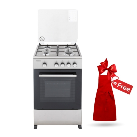BRUHM  4GAS COOKER WITH OVEN 50cm x 50cm BGC-5540SF + FREE APRON
